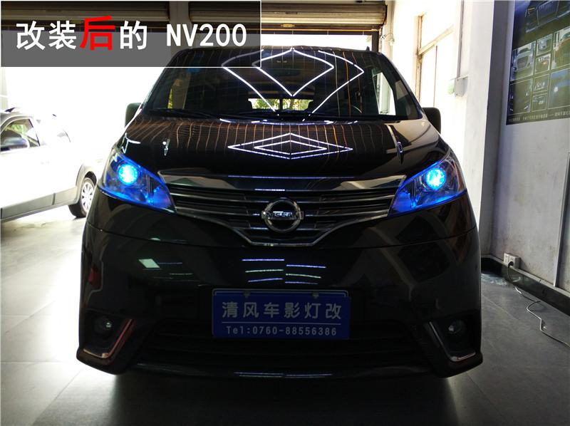 郑州日产nv200大灯改装 升级gtr双光透镜 让夜晚不再黑暗!